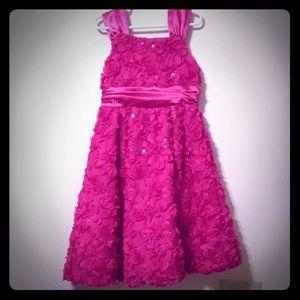 Fuschia party dress size 7